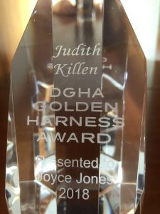 Judith Killen DGHA Golden Harness Award Presented to Joyce Jones 2018